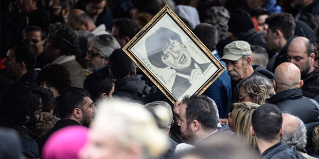 Ayşen Gruda'nın cenazesi