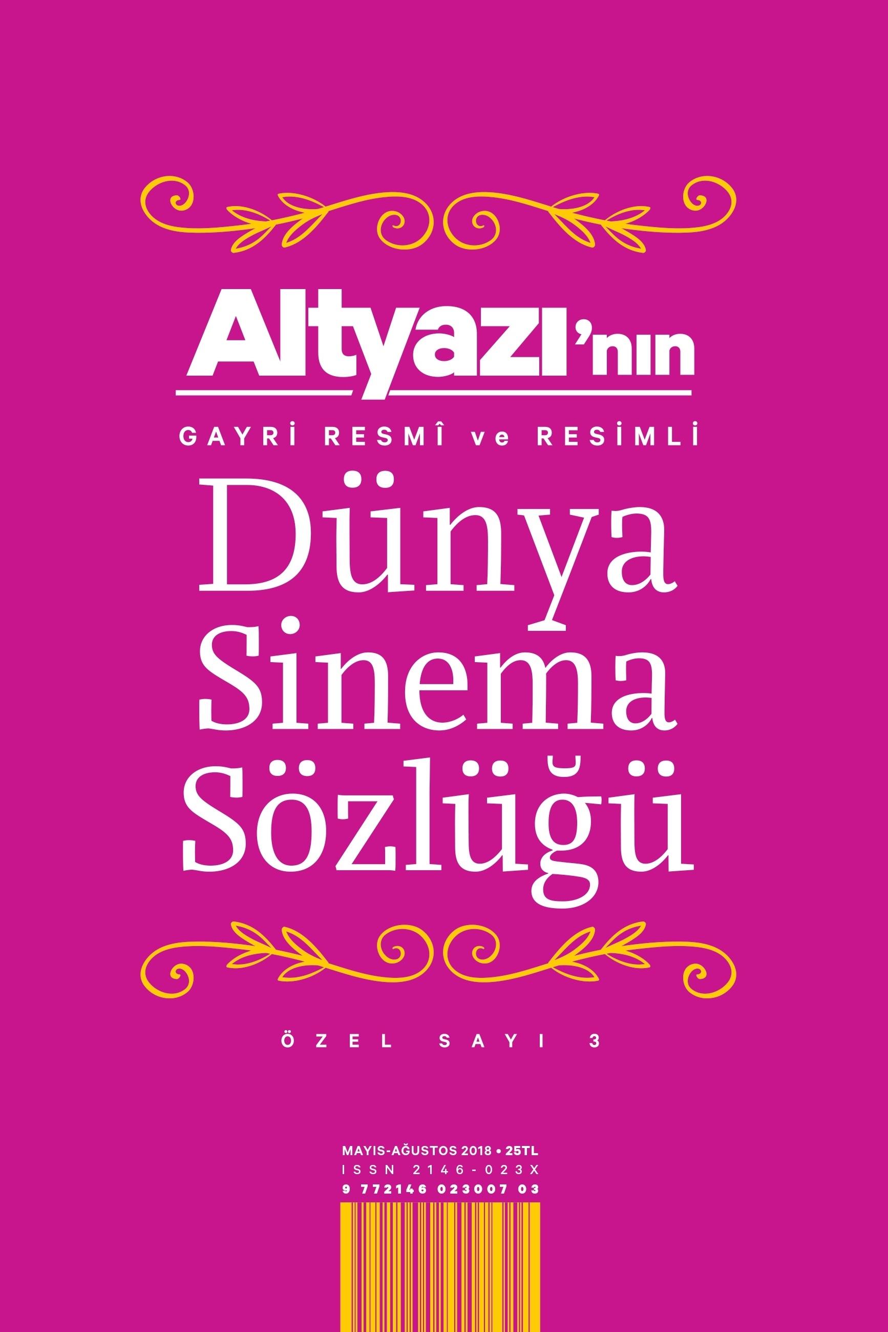 Altyazı'nın Gayri Resmî ve Resimli Dünya Sinema Sözlüğü
