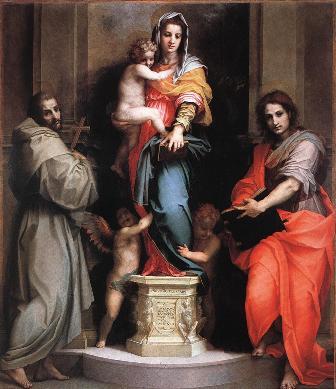 Andrea del Sarto'nun 1517 tarihli Madonna delle Arpie tablosu