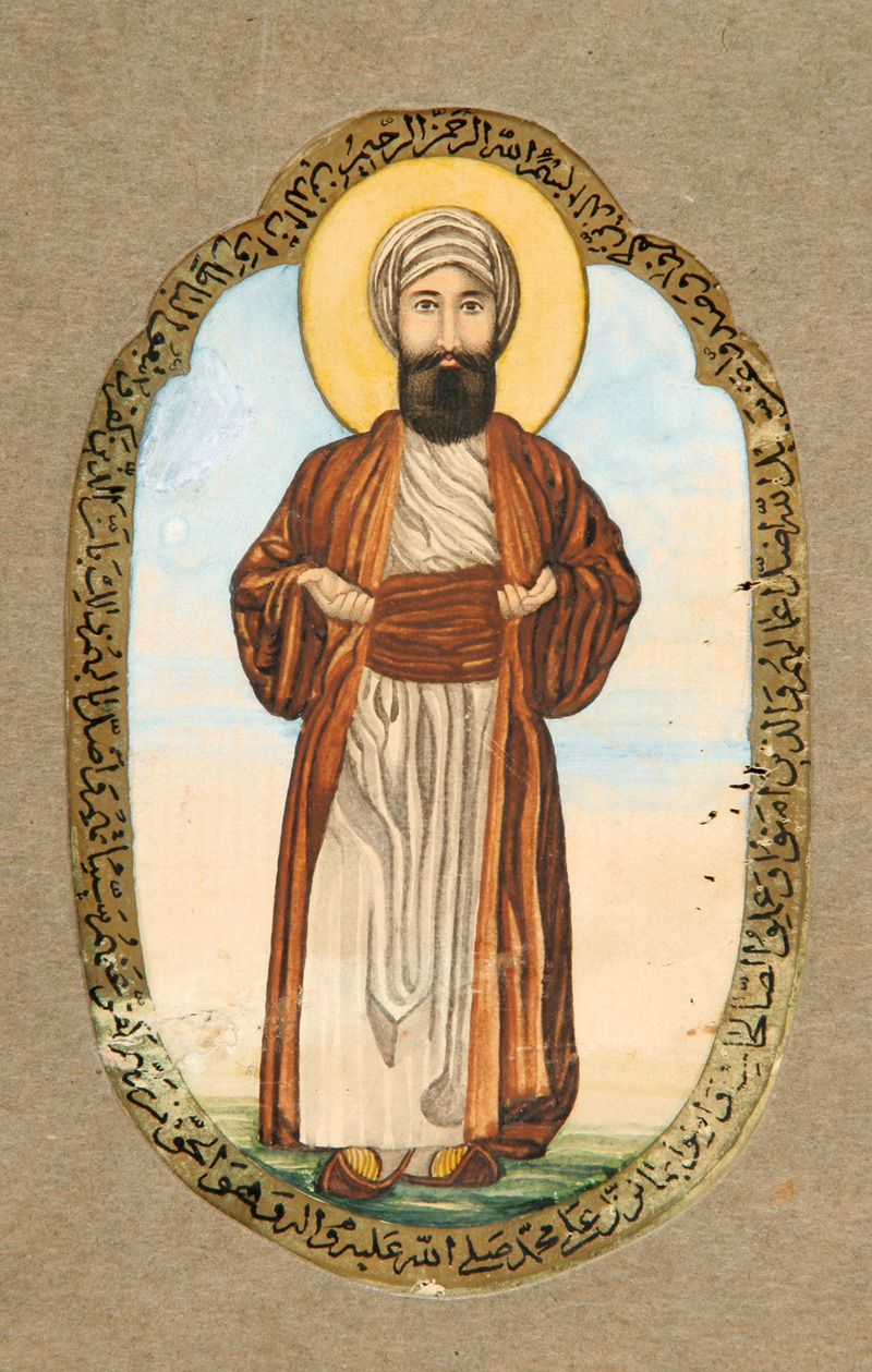 Resim 8. Hz. Muhammed'in ikona şeklinde tasviri. (İran, 19. yüzyıl.)