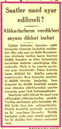 Cumhuriyet Gazetesi'nin 11 Aralık 1933 tarihli haberinin kupürü