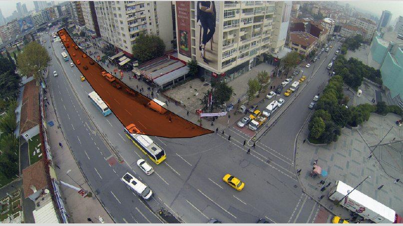 Mecidiyeköy'de trafiğe kapatılacak alan