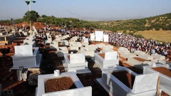 Lice'deki mezarlıkların yıkılmadan önceki hali