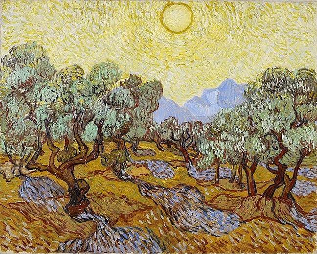 Van gogh'un Orjinal 'zeytin ağaçları' tablosu