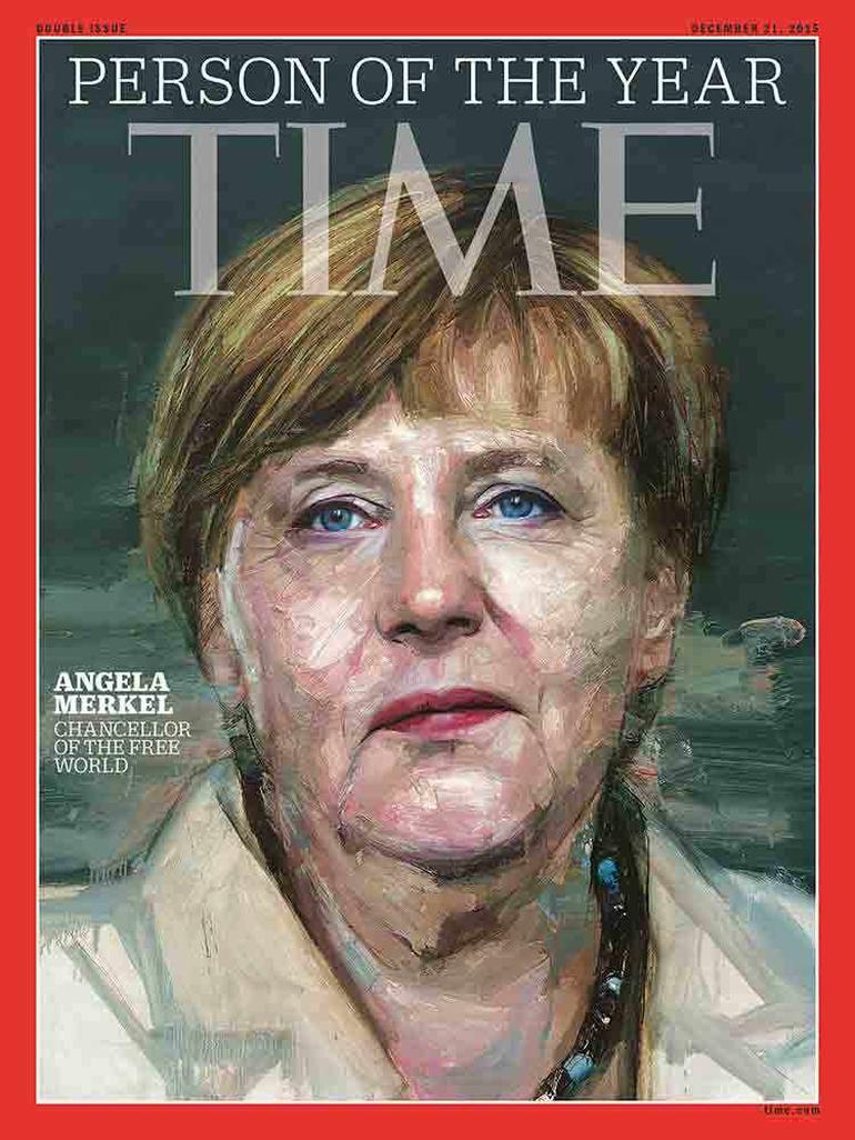 Time, Merkel için 'özgür dünyanın şansölyesi' tanımını kullandı