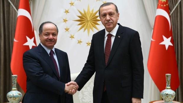 Önceki hafta yaptığı Ankara ziyaretinde Cumhurbaşkanı Erdoğan ile de bir araya gelen Irak Kürdistan Bölgesel Yönetimi Başkanı Barzani'nin, hafta başında
