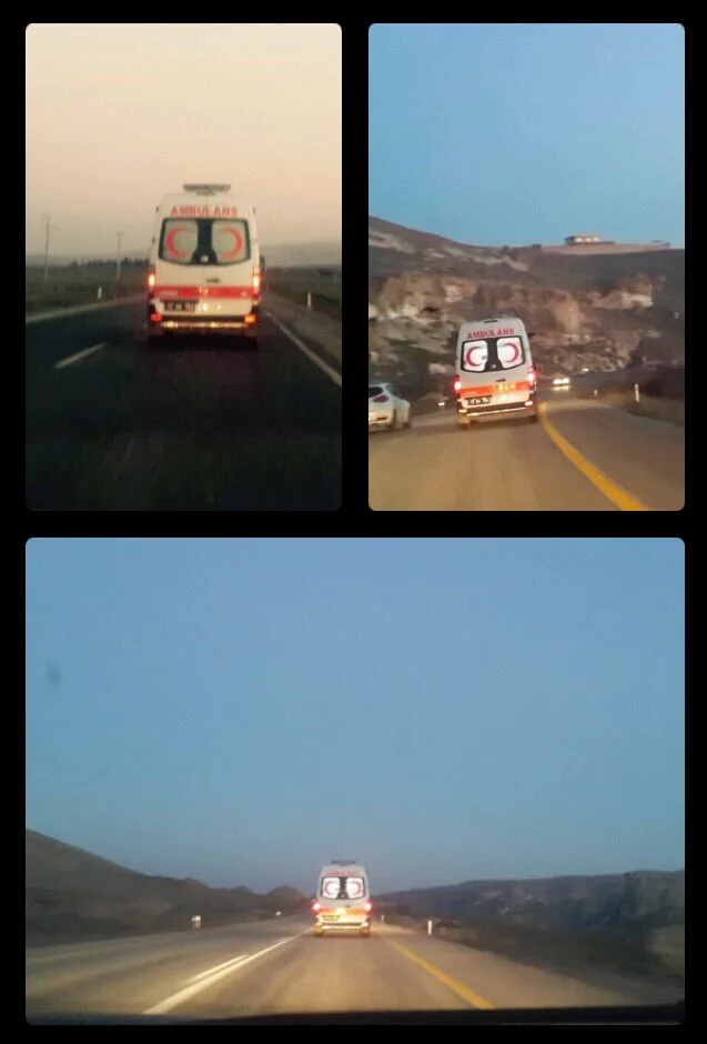 Hekimlerin Cizre'ye doğru yola çıktığı fotoğraf.