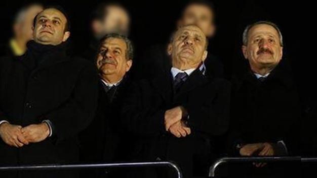 17-25 Aralık soruşturmalarıyla kamuoyuna yansıyan yolsuzluk iddiaları üzerine hükümetten istifa etmek zorunda kalan bakanlar Egemen Bağış, Muammer Güler, Erdoğan Bayraktar ve Zafer Çağlayan (soldan sağa)
