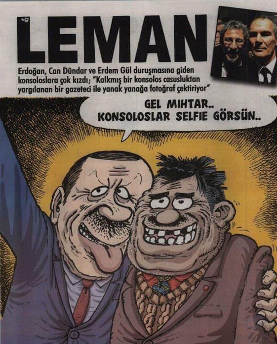 Erdoğan'ın eleştirdiği Leman'ın kapağı