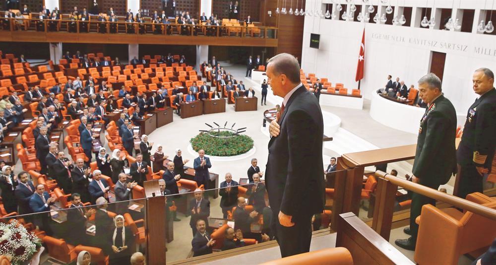 TBMM Genel Kurulu'nda 23 Nisan özel oturumuna katılan Erdoğan, HDP  Grup Başkanvekili Çağlar Demirel'in 'Dolmabahçe mutabakatı' sözüne Adana'da tepki gösterdi. Erdoğan 'Ne Dolmabahçe mutabakatı ya' dedi