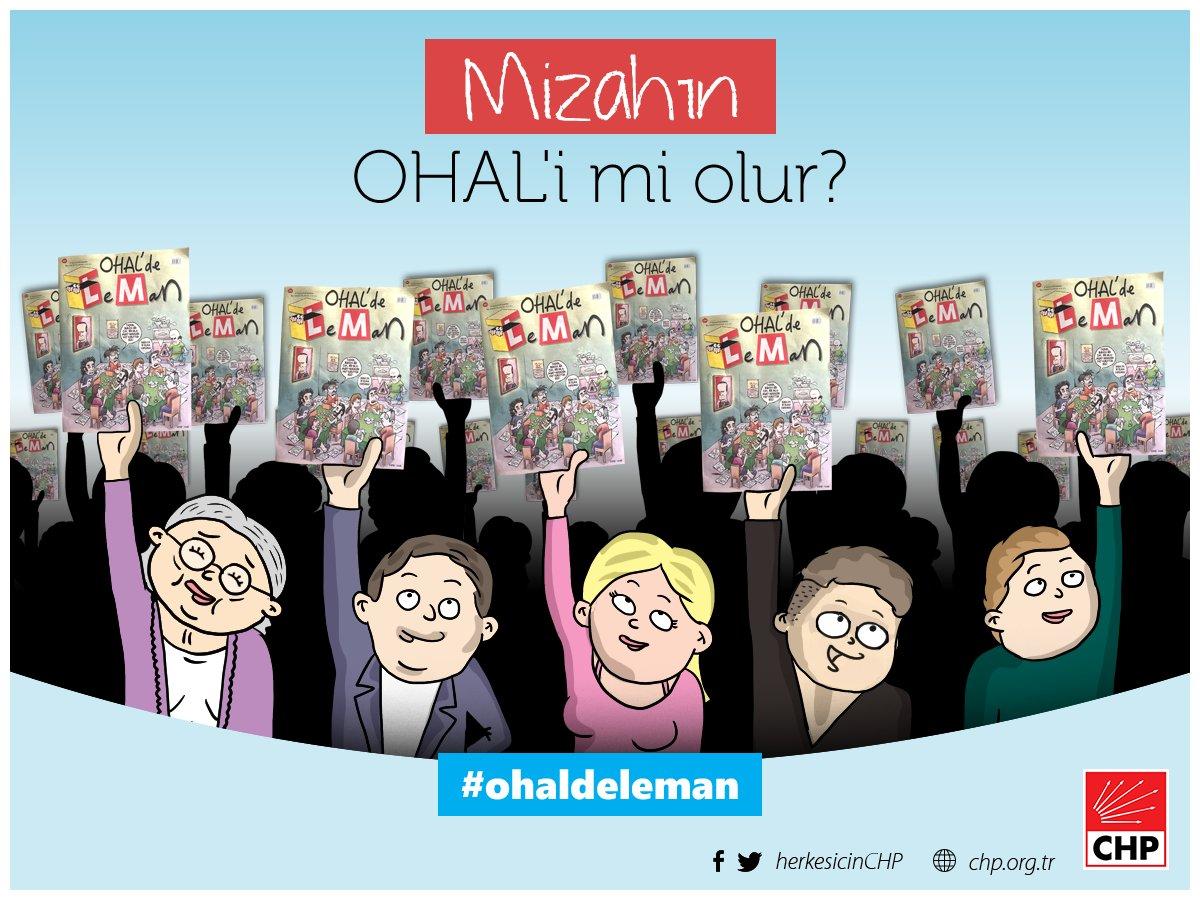 CHP'nin resmi Twitter hesabında paylaştığı karikatür
