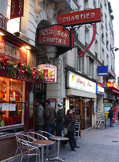 Restaurant Le Chartier, Paris'in hem en ucuz, hem de kaliteli, tarihi Restaurant'ı