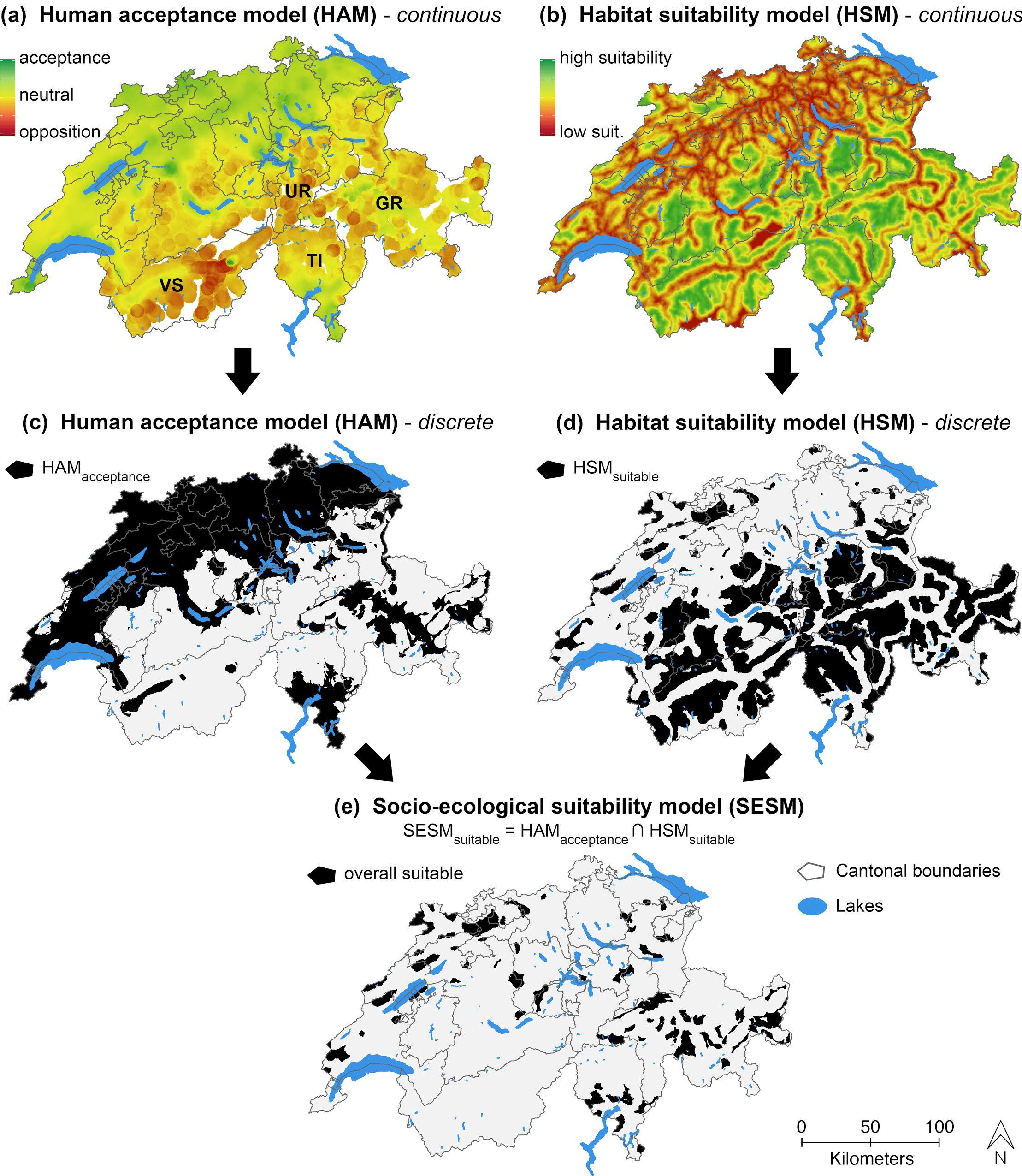 Sosyoekolojik uygunluk haritasının oluşturulması aşamaları