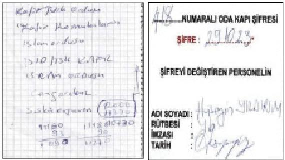 Darbe şüphelisi Hüseyin Yıldırım'da ele geçirilen belgeler...