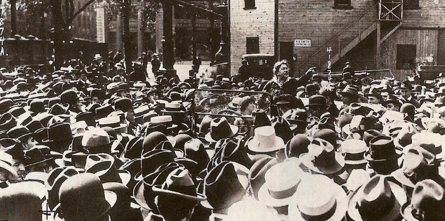 Emma Goldman, Union Square, New York, 1916