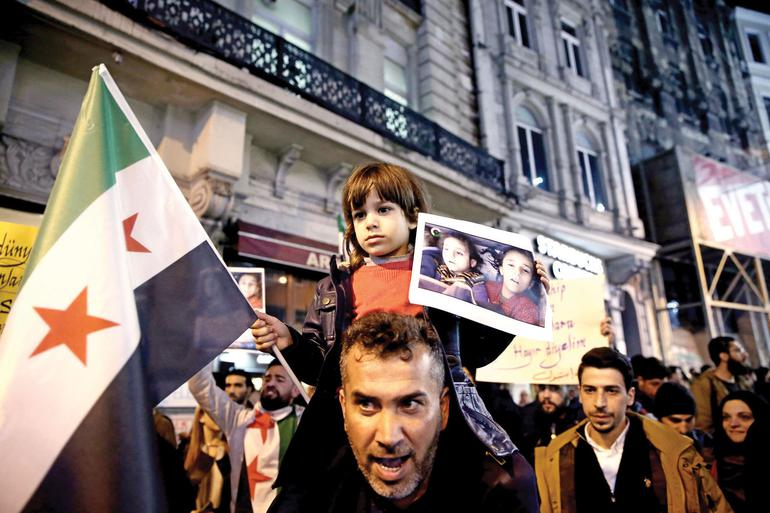 İstanbul'da  STK'lar  katliamı protesto etti.