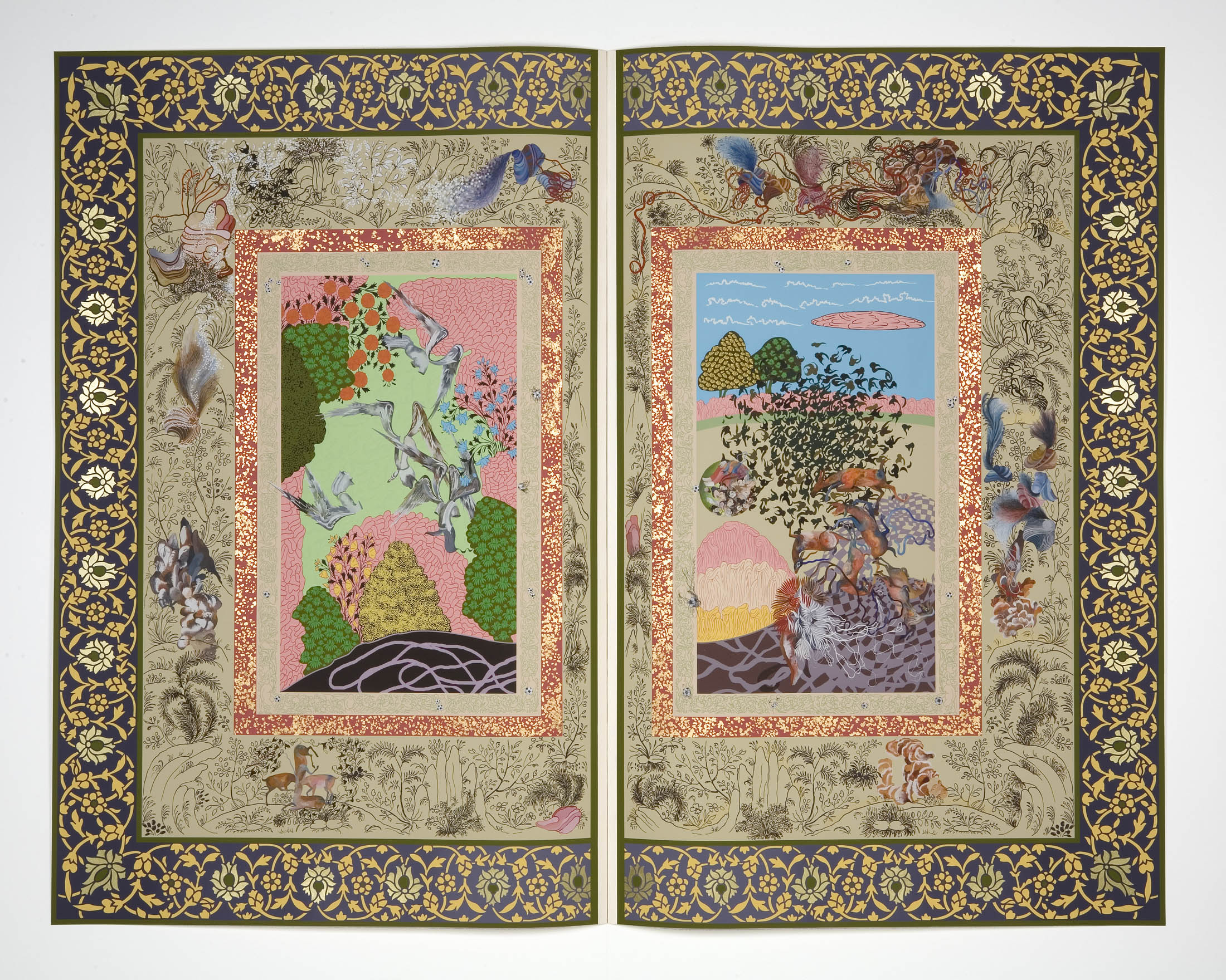 Shahzia Sikander, The Illustrated Page II (2005–2007).