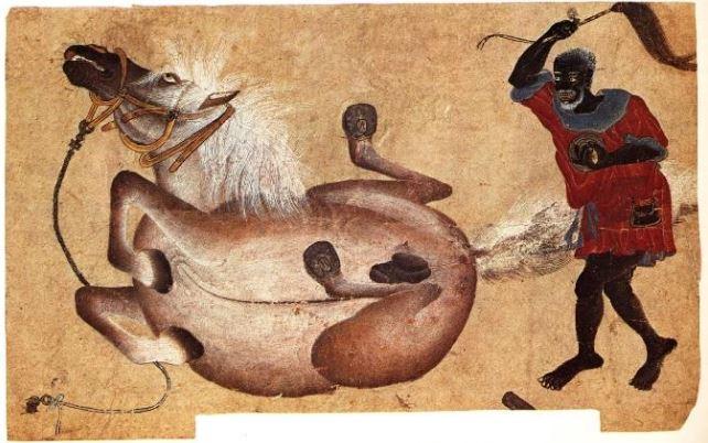 """Paolo Uccello'nun çağdaşı olan, """"Mehmed Siyah Kalem""""e mal edilen resimlerden bir örnek."""