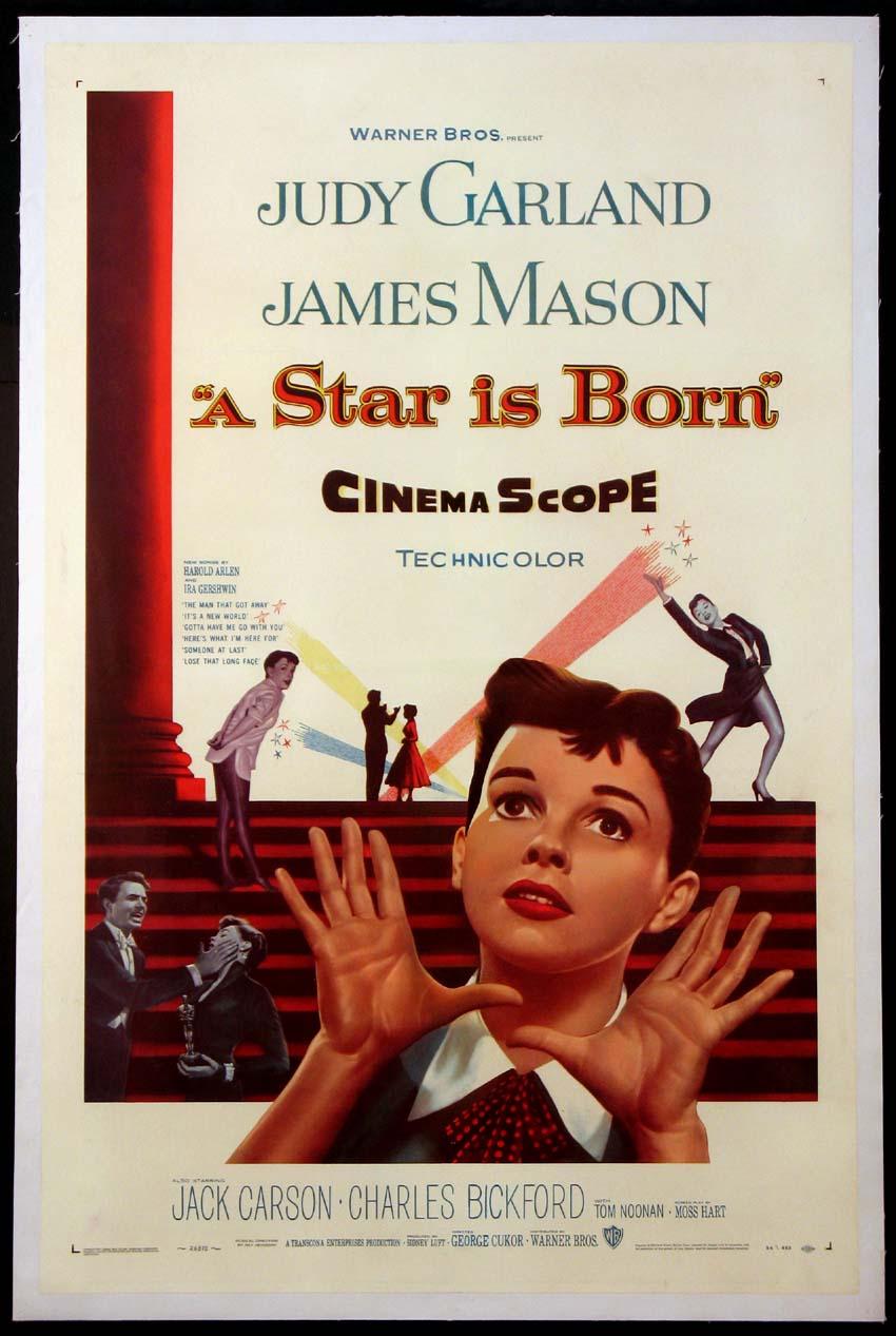 Judy Garland ve James Mason'ın olduğu filmin afişi