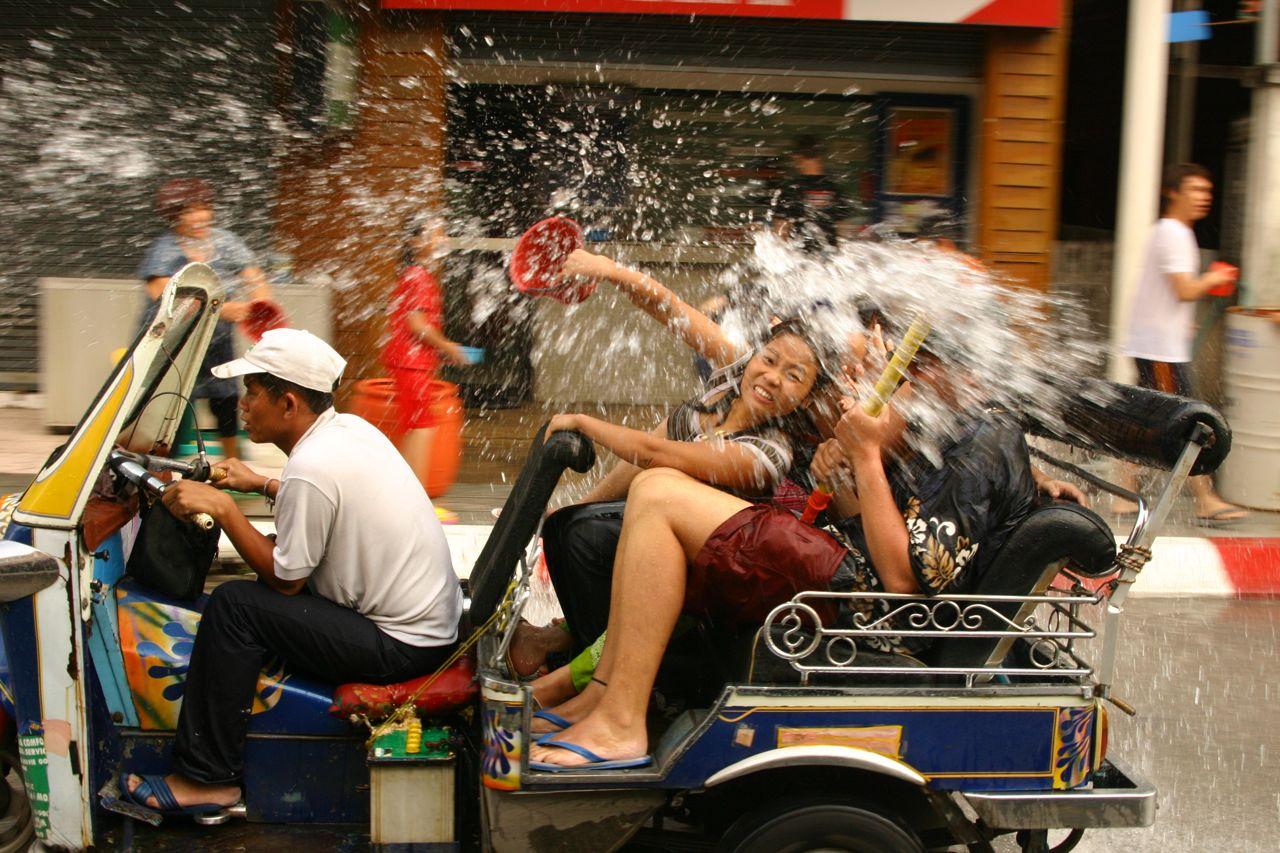 Tayland'dak, Songkran Festivali