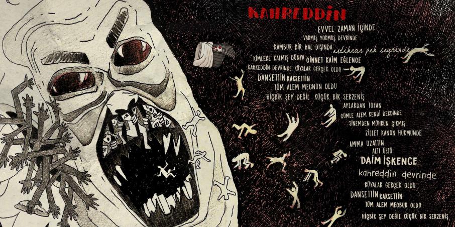 Gökçe Deniz Balkan'ın çizimiyle Kahreddin şarkısı
