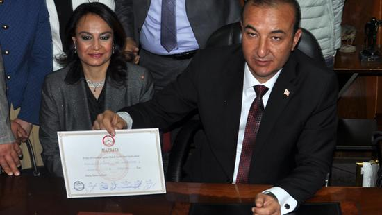 Belediye Başkanı Alemdar Öztürk ve eşi