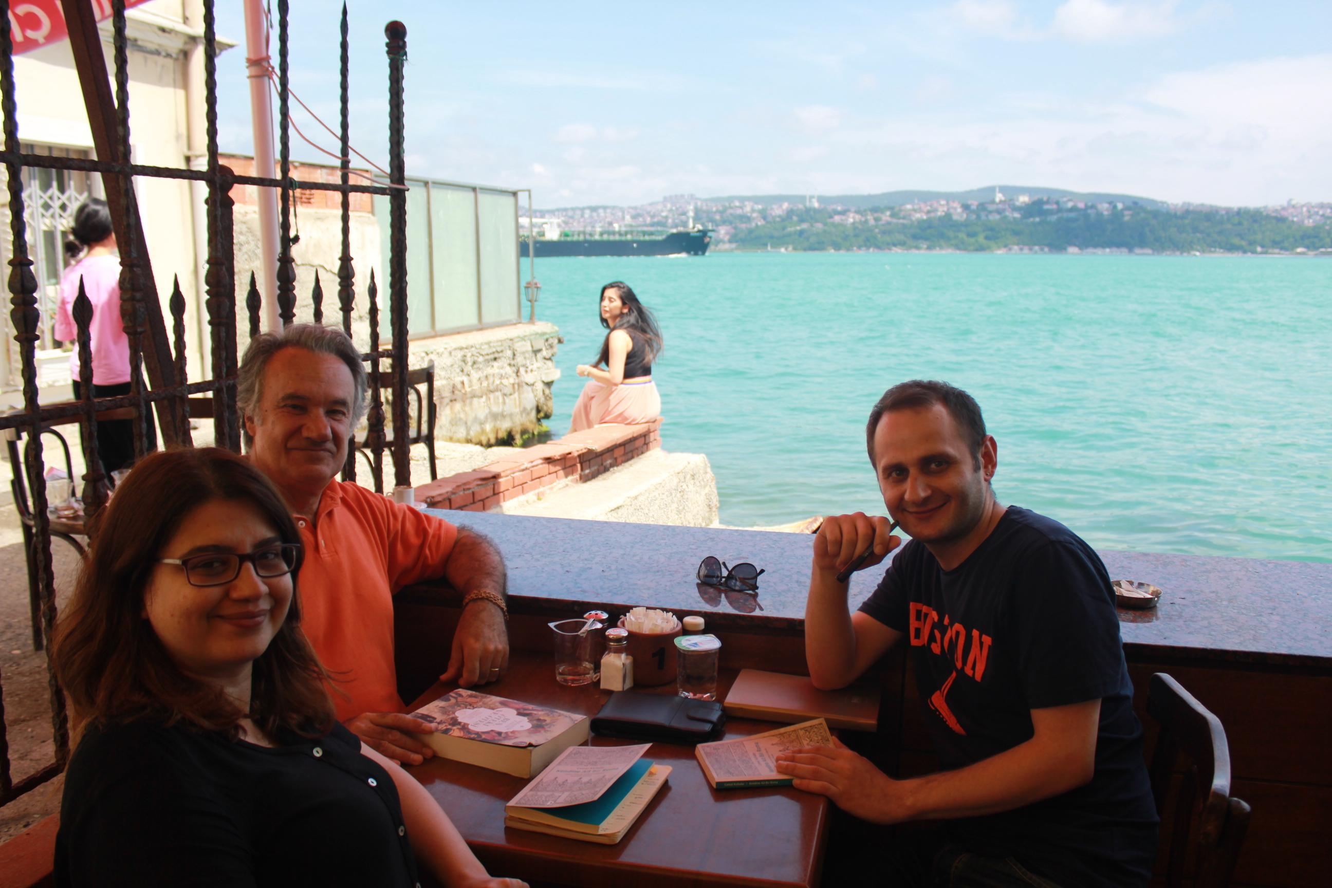 Prof. Dr. Cemal Kafadar, Serkan Ayazoğlu ve Dr. Feray Coşkun