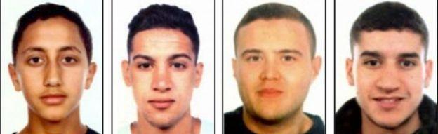 Soldan sağa: Moussa Oukabir, Said Aallaa, Mohamed Hychami, Younes Abouyaaqoub.