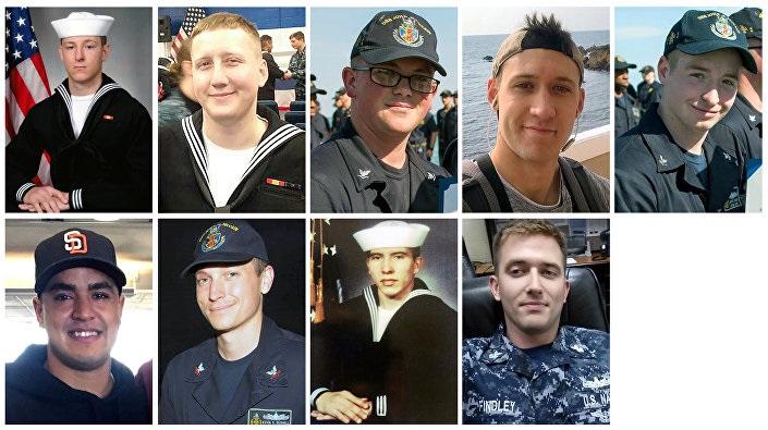 Kaybolan 10 ABD'li denizciden 9'u.