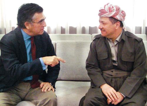 Ekim 2009: Selahaddin'deki Başkanlık Sarayı'nda Mesud Barzani ile birlikte...