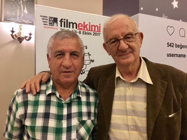 Atlas Sineması'nın müdürü Cevdet Pişkin ile birlikte