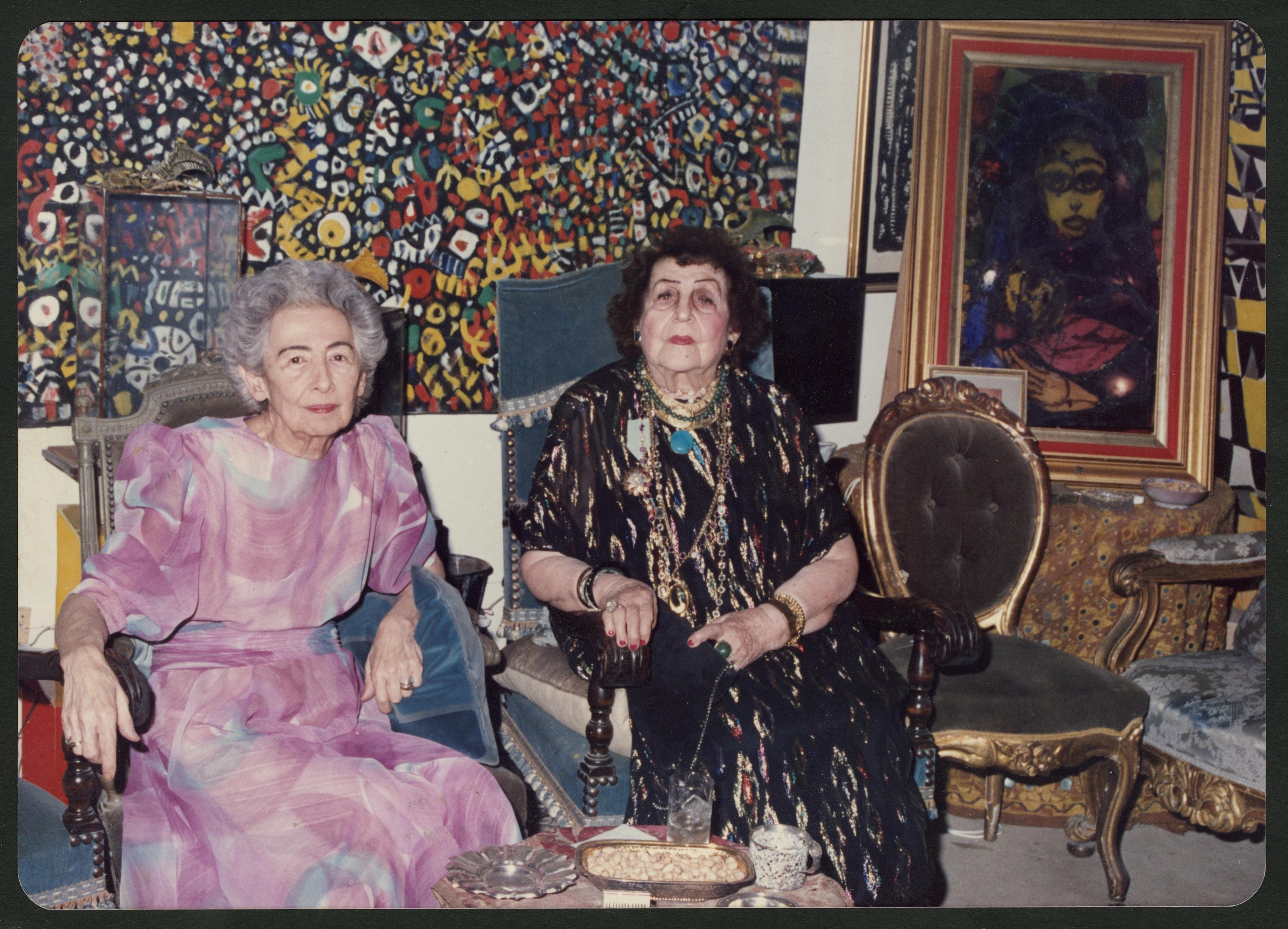 Füreya Koral ve Fahrelnissa Zeid, 1980'ler.