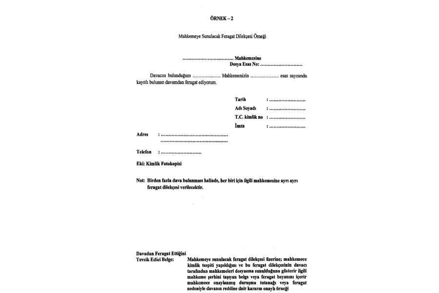 Başvuru sırasında verilmeyecek! Sınavdan sonra mahkemeye sunulacak dilekçe (örnek-2 dilekçe)