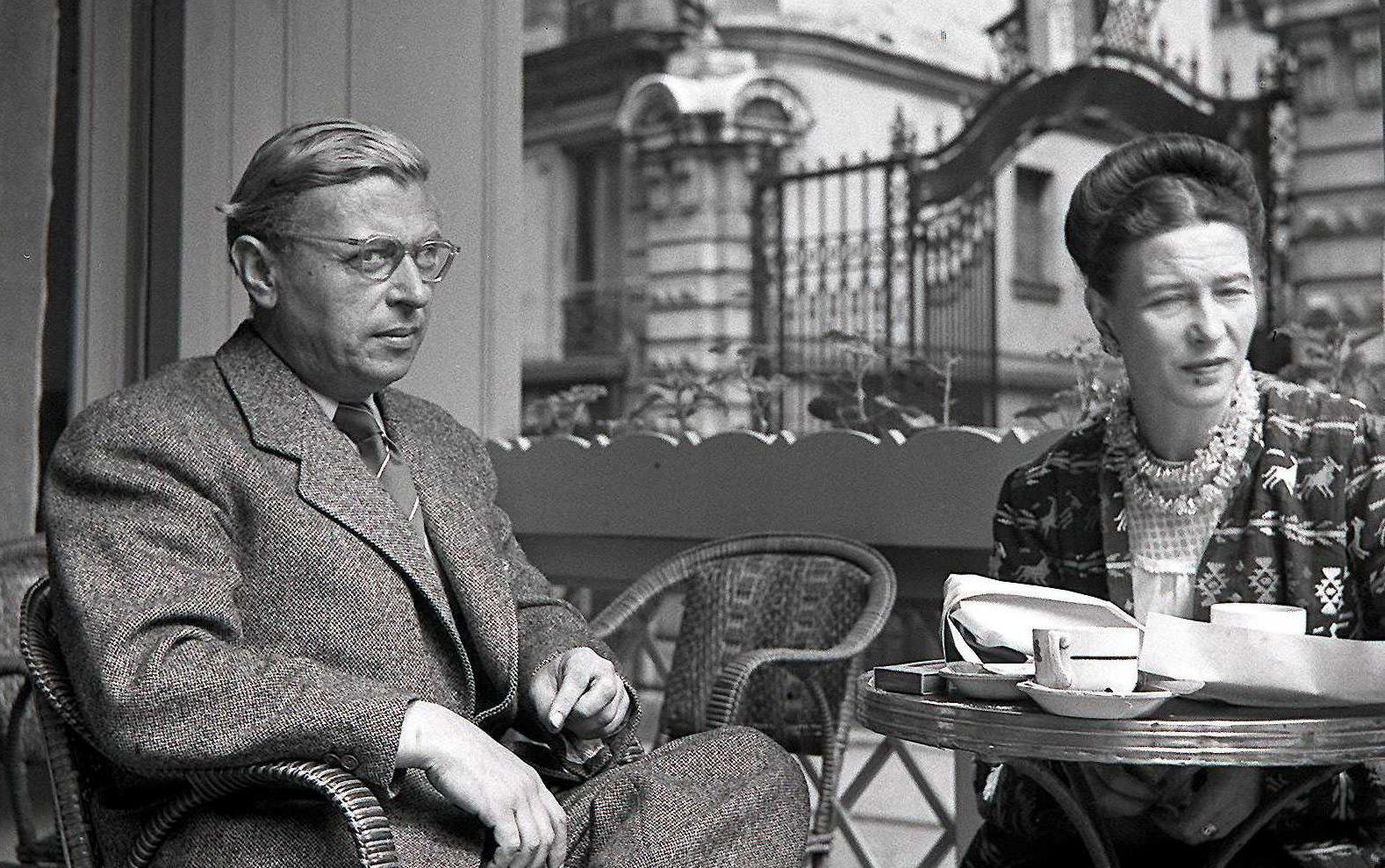 Jean Paul Sartre ile Simone de Beauvoir