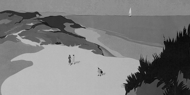 'Karanlıktan Önceki Yaz' kitabının Pushkin Press baskısının kapağından