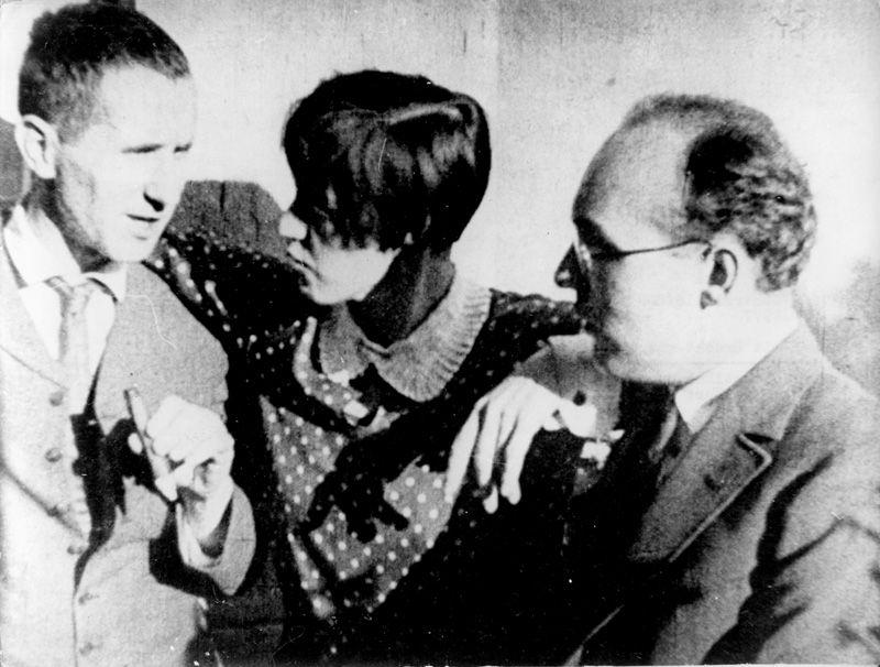 Bertolt Brecht, Lotte Lenya, Kurt Weill, 1929