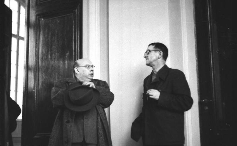 Hanns Eisler ve Bertolt Brecht, Batı Berlin, 1950