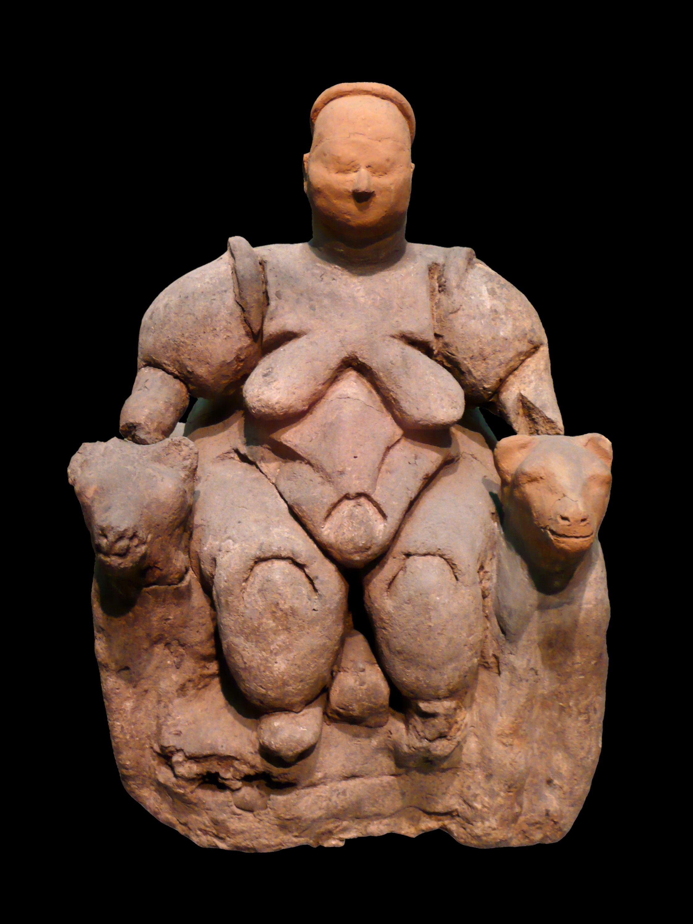 Ana tanrıça? heykelciği, Çatalhöyük, yaklaşık M.Ö. 5750, Ankara Anadolu Medeniyetleri Müzesi