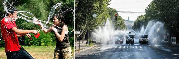 Vartıvar Bayramı'na belediye ve itfaiye de tazyikli sularıyla katılıyor