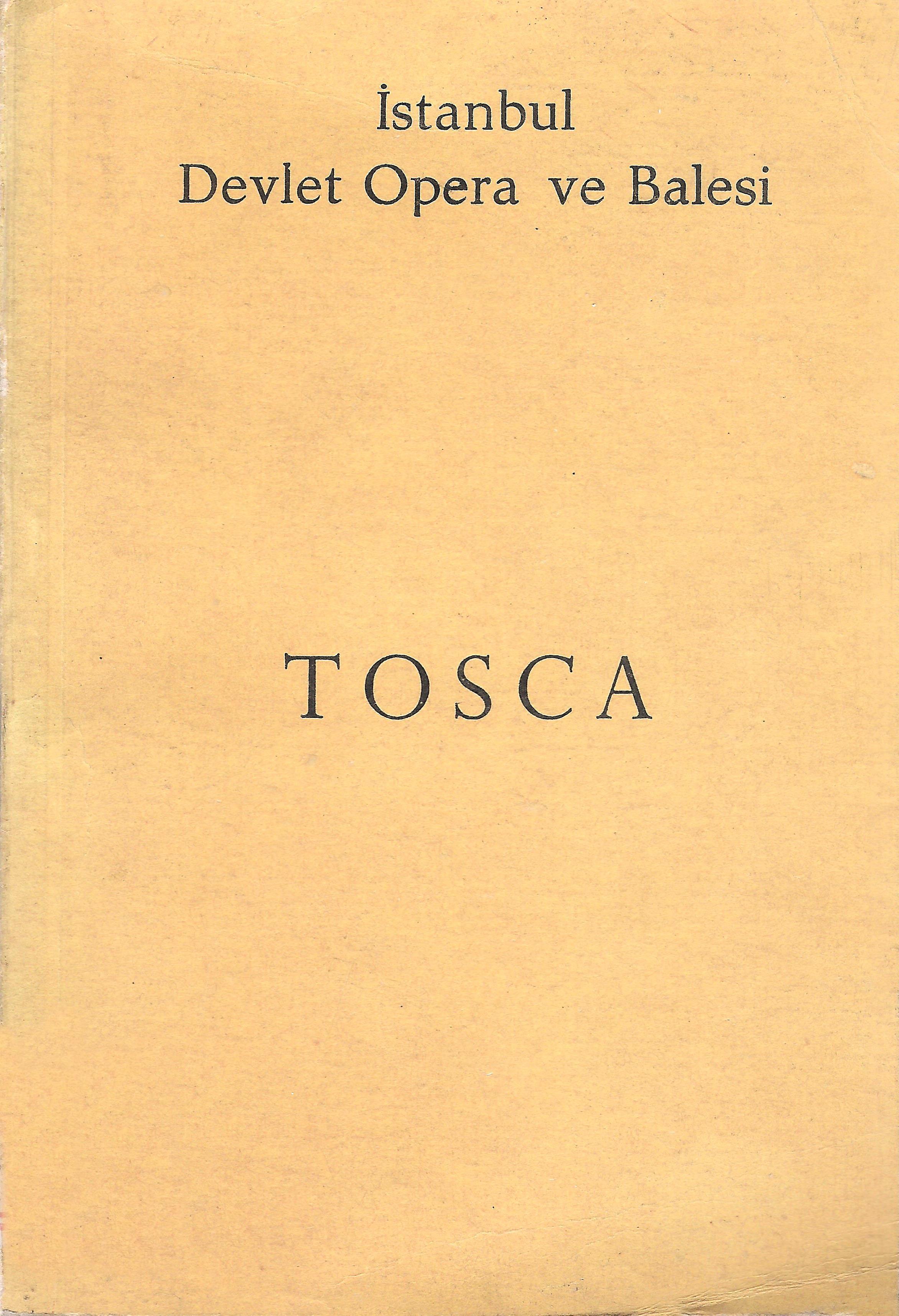 Tosca, İstanbul Devlet Opera ve Balesi