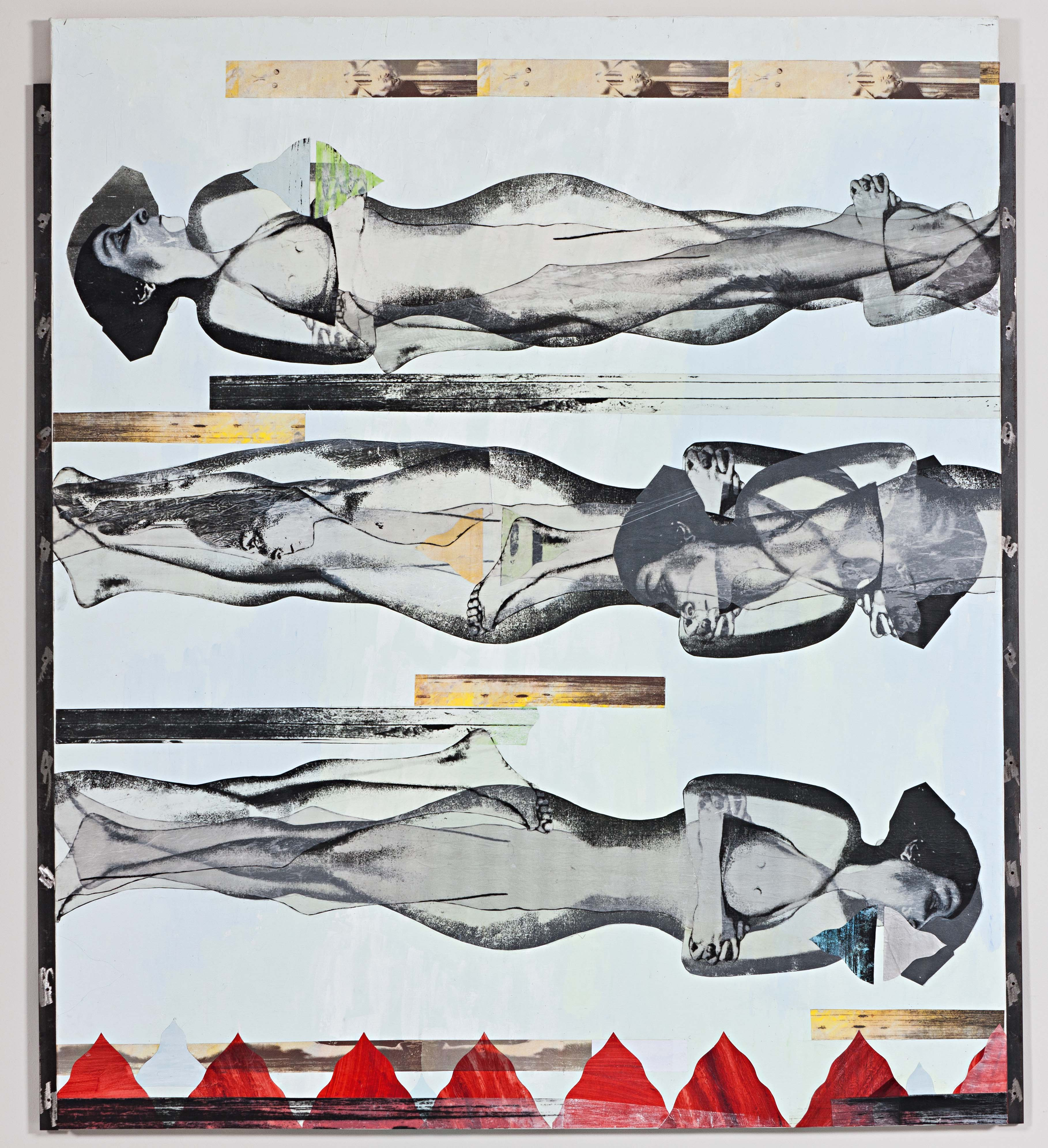 Ipek Duben - 2012, 2012 Metal, tahta, kağıt, akrilik boya 166 x157 cm Sanatçı ve Pi Artworks