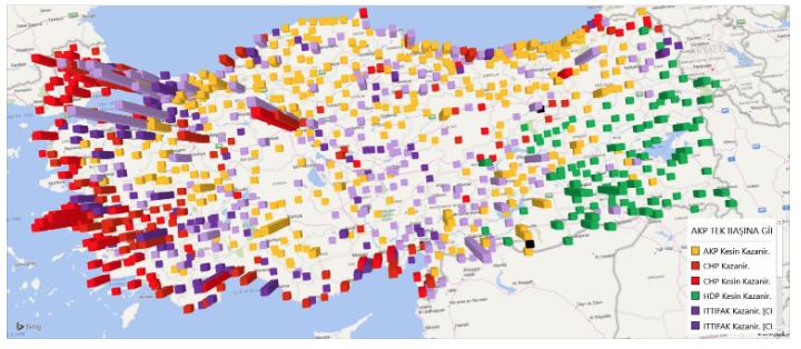 AKP tek başına seçime girerse, hangi ilçeyi hangi parti kazanır?
