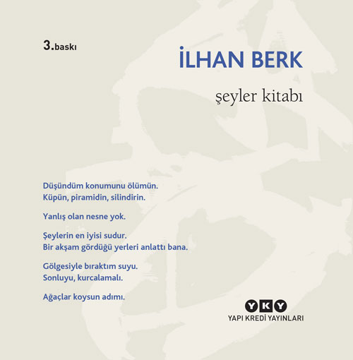 Şeyler Kitabı, İlhan Berk, Yapı Kredi Yayınları