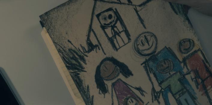 Haunting of Hill House dizisinden bir çizim