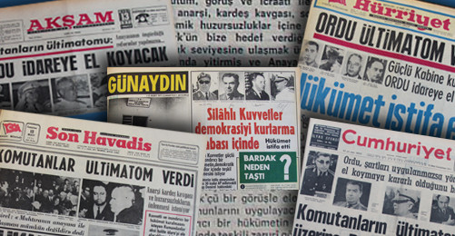 12 Mart 1971'de dönemin gazeteleri askeri muhtırayı bu manşetlerle duyurdu