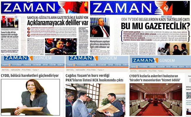 Bugün gazeteciliğin yargılandığını vurgulayan Zaman gazetesi, geçmişte gazeteci Ahmet Şık, Nedim Şener ve Odatv soruşturmaları gibi süreçlerdeki yayınları nedeniyle özeleştiriye davet ediliyor