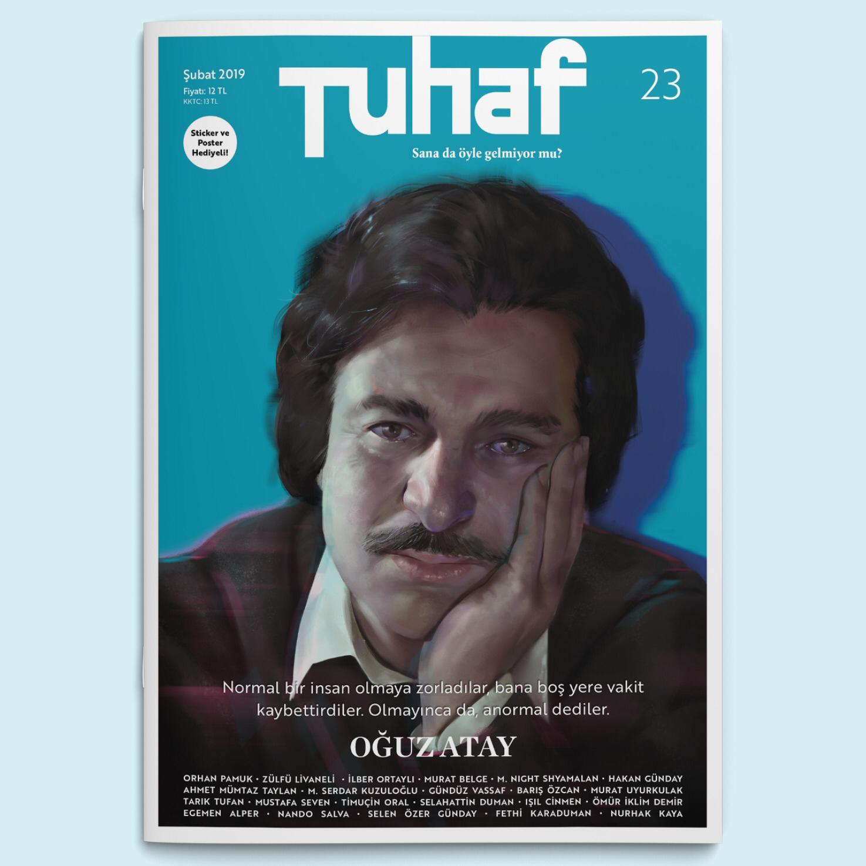 Tuhaf Dergisi'nin Şubat sayısı yazar Oğuz Atay kapağıyla çıktı.