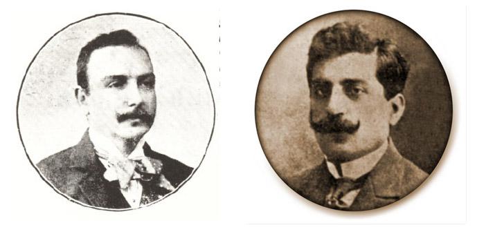 Solda Istanbul mebusu Krikor Zohrab, sağda Erzurum mebusu Vartkes Serengülyan
