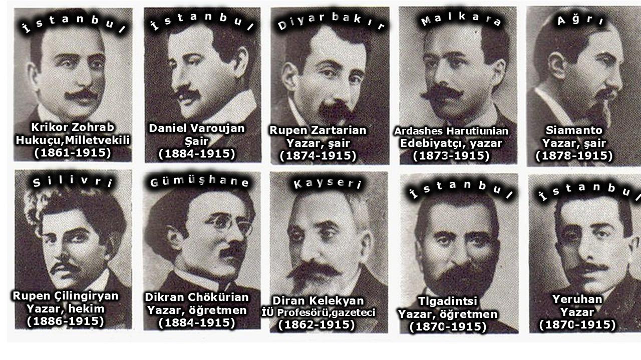 1915 sürgüne gönderilip öldürülen Ermeni aydınları