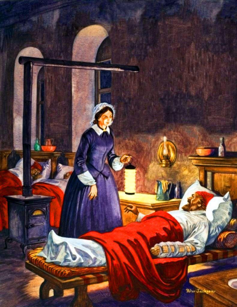 Hemşirelik mesleğinin kurucusu olarak kabul edilen Florence Nightingale, aynı zamanda lambalı kadın olarak da biliniyor.